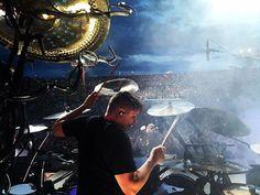 Thanks Albuquerque! Phoenix is next. Pic by @abelvallejo #Korn #Korntour2016 #roadlife #musicislife #Drums #Pearl #Sabian #Remo #JHAudio #VicFirth #DW #drumtacs #yamaha #mrsawbladehead #humesandberg #katfish