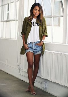 Summer parka outfit