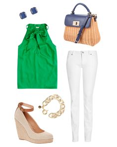 Summer Brunch Outfit Casual Bags Ideas For 2019 Miami Outfits, Casual Summer Outfits, Outfit Summer, Casual Bags, Spring Outfits, Green Top Outfit, Sunday Brunch Outfit, My Style, Classic Style