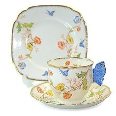 Royal Albert  Butterfly handle trio  1927-1935