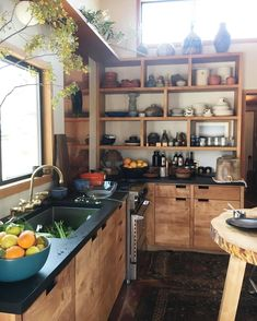 Rustic Kitchen Ideas - Surf photos of rustic kitchen layouts. Discover inspiration for your hill design kitchen remodel or upgrade with ideas for storage, organization, layout as well as . Rustic Kitchen Design, Home Decor Kitchen, Kitchen Furniture, New Kitchen, Home Furniture, Kitchen Ideas, Kitchen Layouts, Decorating Kitchen, Decorating Ideas