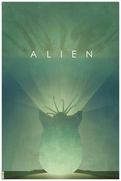 Alien fan art poster by Saga Alien, Alien Film, Alien Art, Alien 1979, Pet Sematary, Hr Giger, Xenomorph, Movie Poster Art, Film Posters
