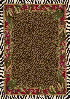 Animal Print Rug :: Milliken - Signature - Jungle Safari (Ruby)