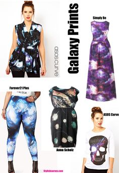 PLUS SIZE TREND TO TRY: GALAXY PRINTS