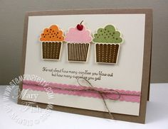 Another Stampin' Up! cupcake punch card ! delish!