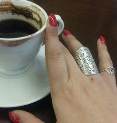 Handmade rings in boho style