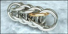 full persion -- i've done one similar to this. with 14 gauge rings it's heavyweight enough for a masculine bracelet or necklace