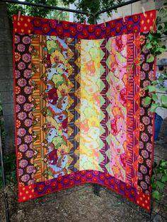 Kaffe Fassett patchwork quilt. Journée de l'Amitié France Patchwork