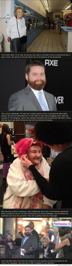 Aww, that is the sweetest thing ever! #ZachGalifianakis