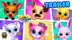 Kiki & Fifi Bubble Party 🎁 Get Ready with Your Fave Virtual Pets Baby Bunnies, Cute Bunny, Princess Games, Rabbit Gif, Rainbow Bubbles, Doll Games, Bubble Party, Fluffy Bunny, Virtual Pet