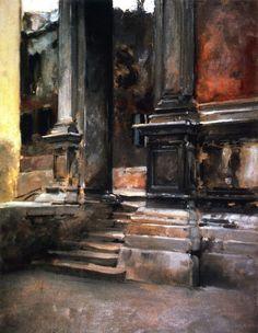 John Singer Sargent | Portico di San Rocco, 1882