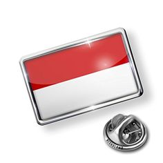 Pin Monaco Flag - Lapel Badge - NEONBLOND by NEONBLOND -- Awesome products selected by Anna Churchill