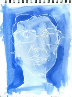 collage journeys: Letting Go of Looking Good: Blind Self-Portrait