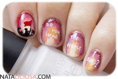 Uñas pintadas de les miserables - Do you hear the people sing? Les Mis nail art, freehand design