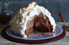 Baked Alaska with Hot Chocolate Sauce