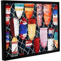ArtWall Derek Mccrea Buoy Painting Gallery-wrapped Floater-framed Canvas, Size: 18 x 24, Blue