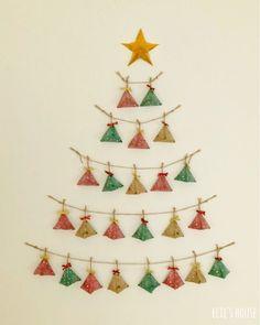 アドベントカレンダーを100均商品でおしゃれにハンドメイド|LIMIA (リミア) Christmas Crafts, Christmas Decorations, Xmas, Christmas Ornaments, Holiday Decor, Christmas Calendar, Diy Advent Calendar, Store Displays, Diy Cards