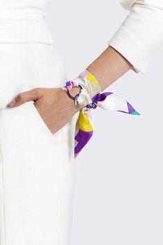 Monique Silk Bracelet. Handmade from Luxurious by SilkPhilosophy