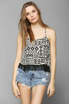 Staring At Stars Fringe Super Cropped Top #urbanoutfitters