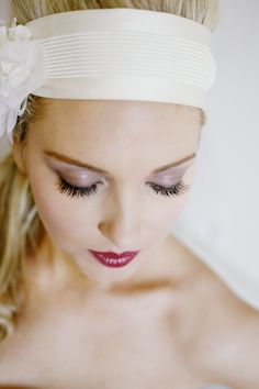 Bride with Bright Red Lips