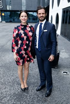 8 May 2017 - Princess Sofia and Prince Carl Philip attend WABF2017 Forum - dress by Other Stories