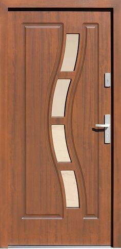 Drewniane wejściowe drzwi zewnętrzne do domu z katalogu modeli klasycznych wzór 544,1