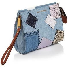 Marc Jacobs Denim Patchwork Clutch ($235) ❤ liked on Polyvore featuring bags, handbags, clutches, blue clutches, denim purse, patchwork handbags, denim handbags and marc jacobs clutches