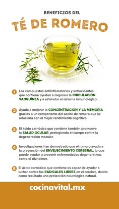Healthy Juices, Healthy Drinks, Healthy Tips, Nutrition Holistique, Holistic Nutrition, Natural Health Remedies, Herbal Remedies, Rosemary Tea, Herbs For Health