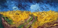 Vincent van Gogh Crows over a Wheatfield painting for sale - Vincent van Gogh Crows over a Wheatfield is handmade art reproduction; You can buy Vincent van Gogh Crows over a Wheatfield painting on canvas or frame. Van Gogh Pinturas, Vincent Van Gogh, Van Gogh Museum, Art Van, Gustav Klimt, Monet, Van Gogh Arte, Crow Painting, Watercolor Painting