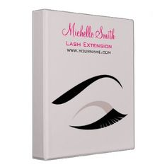 #beauty - #Eye with long lashes lash extension branding 3 ring binder