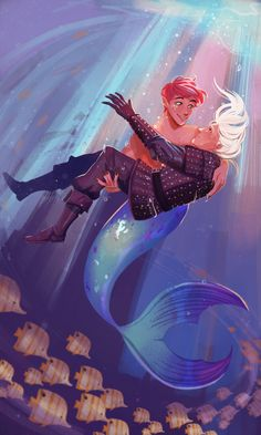 The Witcher Geralt, Witcher Art, Merman, White Wolf, Yellow Flowers, Cute Pictures, Character Art, Fan Art, Drawings