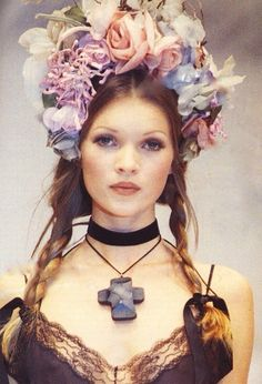 Kate Moss in pigtails