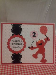 Elmo Birthday Invitations by Maggiedaws