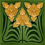 carreaux, art, nouveau, muraux, avec, motifs, F 169 V1