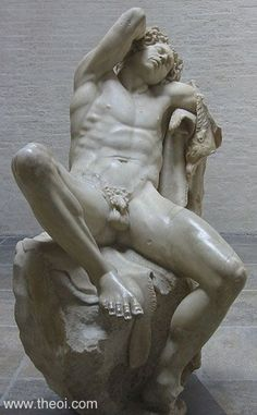 Ancient Greek & Roman Sculpture: Satyr Barberini Faun