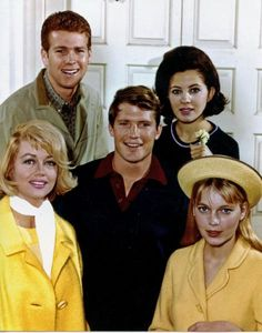 """ Peyton Place ""  cast with a young Ryan ONeal & Mia Farrow    1957..the fore-runner of tv soaps"