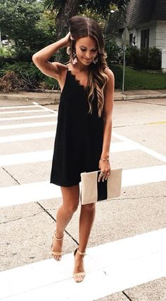 classic lbd and beige accessories