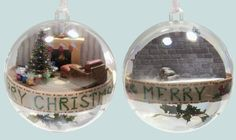 Create custom miniature scenes as keepsakes or gifts this holiday season.  Get everything you need at miniatures.com.