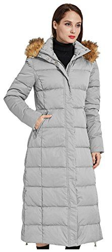 Orolay Womens Puffer Down Coat with Faux Fur Hood