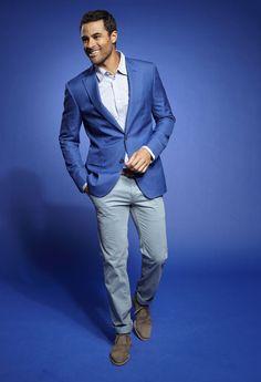Nice Blue Summer Jacket Sport Coat #blue #mensfashion