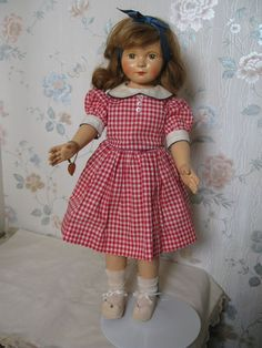 "20"" composition Effanbee Dewees Cochran American Children Doll w painted eyes #Effanbee"
