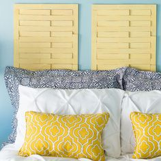 Create a custom headboard with a basket-weave pattern -- no drills or saws required. Make a pair of panels for a twin or multiples for full-, queen-, and king-size beds.