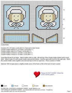 PILGRIM GIRL COASTERS (both girl & boy have matching bathroom caddies-pinned in my Thanksgiving 2 PC board)