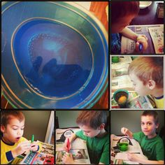 Egg Decorating Kit with Kids  http://www.theknitwitbyshair.com/2013/03/egg-decorating-fun-with-my-boys.html