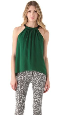 Emerald Green top is great, but those pants are...nyah.