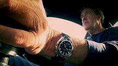 Jeremy Clarkson with some shameless product placement for the Omega Seamaster Planet Ocean