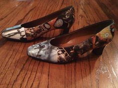 SPIDERMAN Comic Strip slipon Shoes w/Heels by lpatch13 on Etsy, $26.00