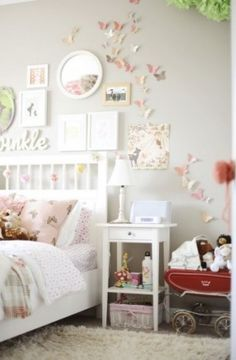 Leuk voor een meisjesslaapkamer.