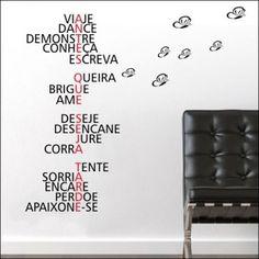 adesivo parede palavras positivas