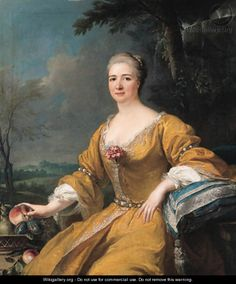 Portrait of the Duchess of Luxembourg by (after) Alexis-Simon Belle